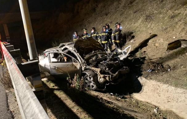 Tragedia en Nochebuena: tres jóvenes mueren en la M-50. /Emergencias Madrid