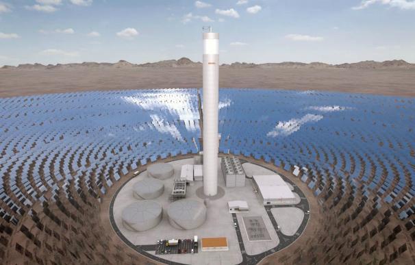 Instalación termosolar en el desierto de Atacama.