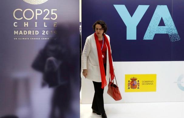 Magdalena Valerio durante la Cumbre del Clima de Madrid