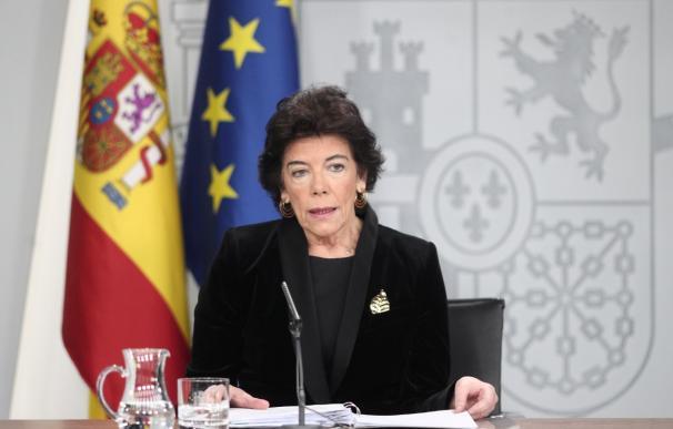 Fotografía Isabel Celaá, último Consejo de Ministros / EFE