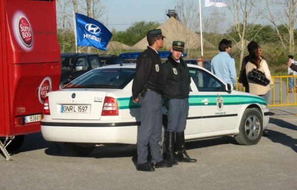 Fotografía de una patrulla de la Guardia Nacional Republicana de Portugal.