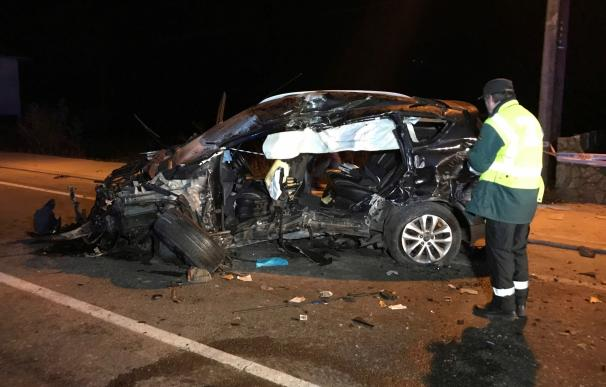 Brutal accidente en Gondomar, Pontevedra. /EFE/Sxenick