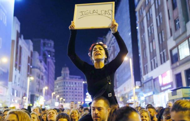 Huelga feminista en Madrid. / EFE