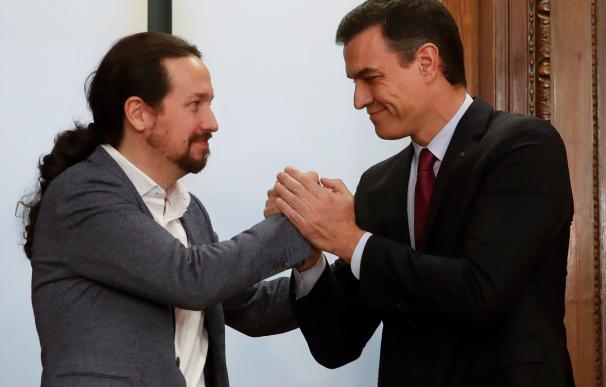 Sánchez e Iglesias van a la 'guerra' contra el Ibex 35 al fulminar la reforma laboral