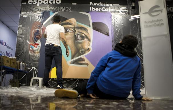 El artista 'Belin' en la Fundación Ibercaja