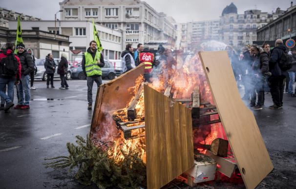 Huelga en Francia. / EFE