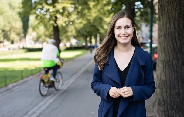 Fotografía de la primera ministra de Finlandia Sanna Marin.