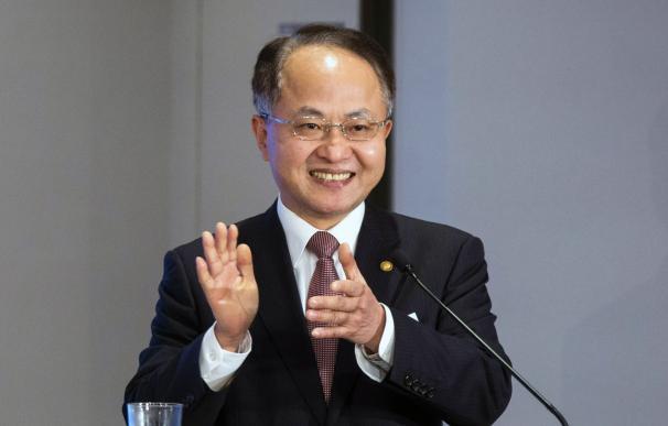 El cesado director de la Oficina de Enlace de China en Hong Kong, Wang Zhimin. /EFE/EPA/JEROME FAVRE