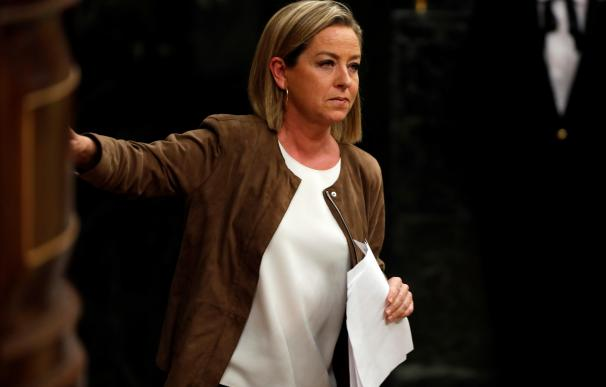 La diputada de Coalición Canaria, Ana Oramas, tras su intervención ante el pleno. /EFE