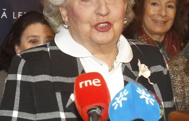 """La infanta Pilar de Borbón afirma que """"nadie es culpable hasta que los jueces lo digan"""""""