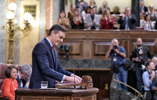 Sánchez es investido en 'foto finish' y afronta la desaceleración en minoría