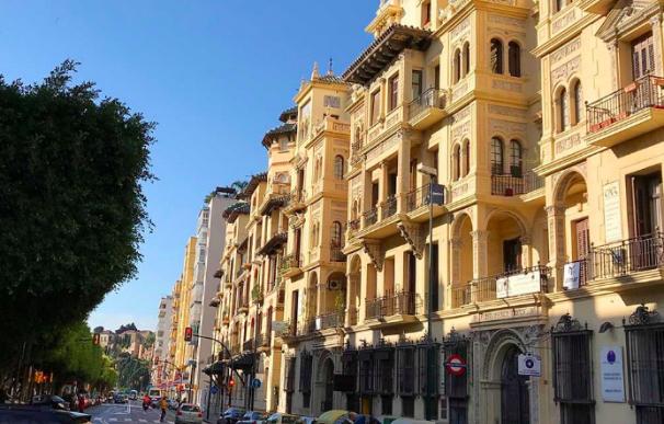 El aristocrático Paseo de Reading, en Málaga.