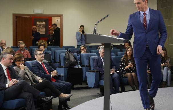 Pedro Sánchez, al anunciar su nuevo Gobierno