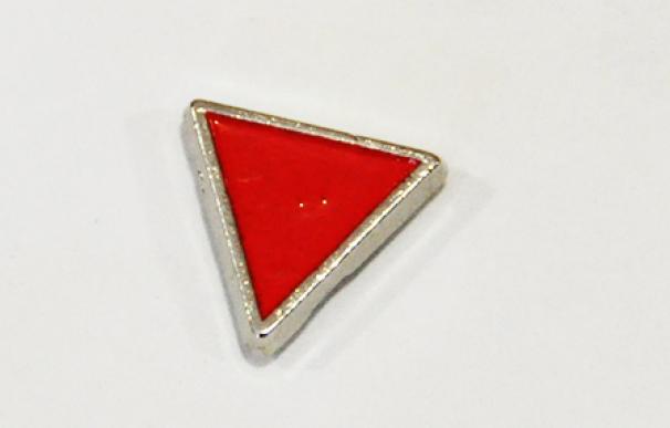 Pin rojo de triángulo invertido