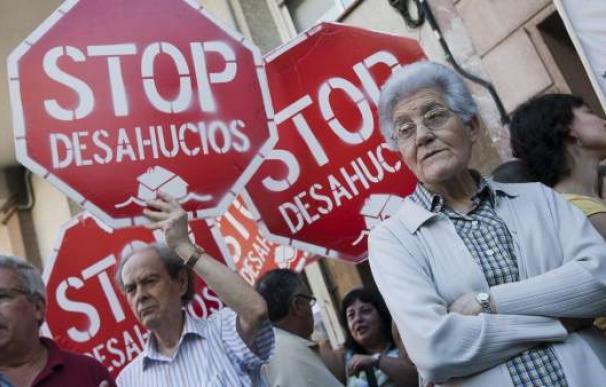 Fotografía protesta contra desahucios / EFE