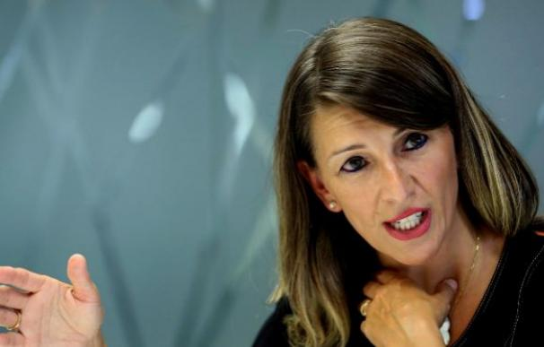 La diputada Yolanda Díaz, portavoz de Galicia En Común, una de las confluencias de Unidas Podemos en el Congreso, e integrante del comité negociador./EFE