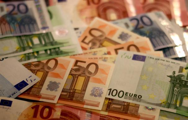 Fotografía de los billetes de euro.