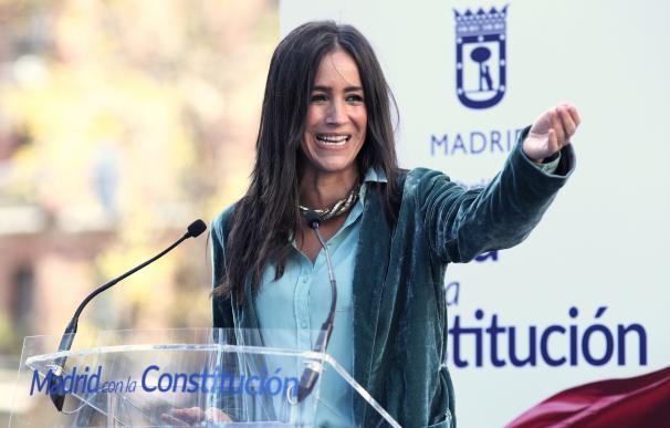 La vicealcaldesa de Madrid, Begoña Villacís, interviene en un acto de homenaje del Ayuntamiento de Madrid a la Constitución Española en la Plaza de Chamberí, en Madrid (España), a 5 de diciembre de 2019.