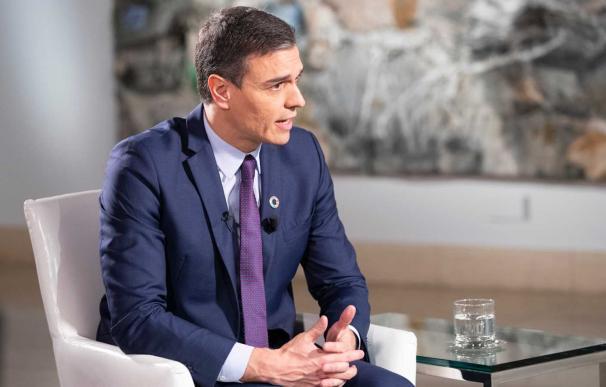Pedro Sánchez durante la entrevista en La 1. /RTVE