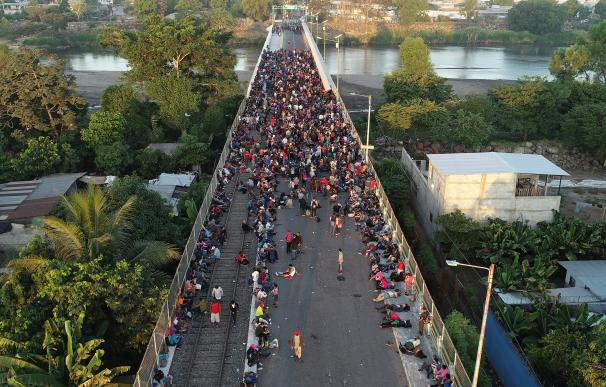 caravana de migrantes. / EFE