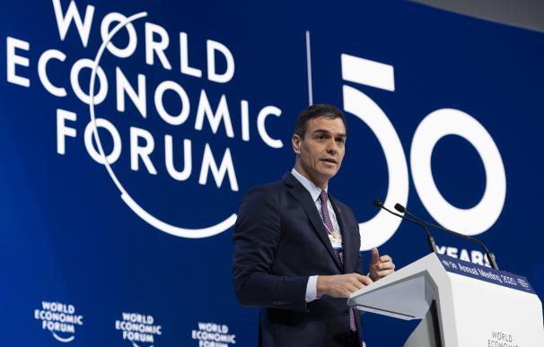 Pedro Sánchez en Davos. / EFE