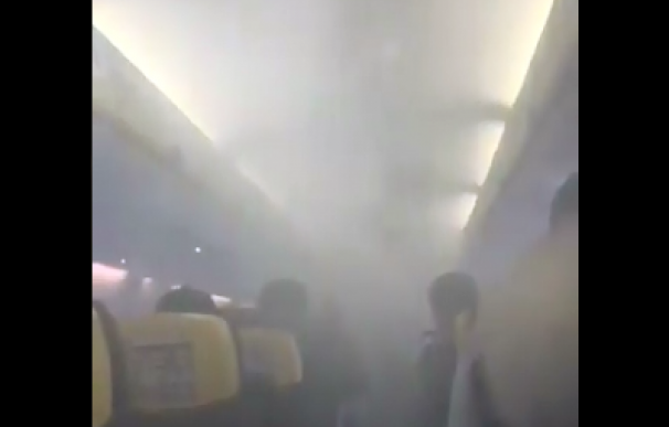 Cabina Ryanair. / Captura