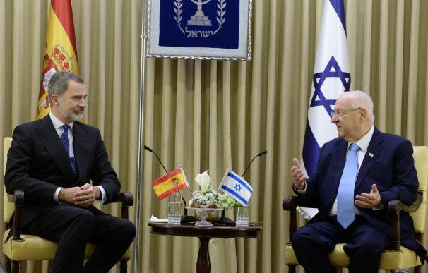 Felipe VI junto al presidente de Israel