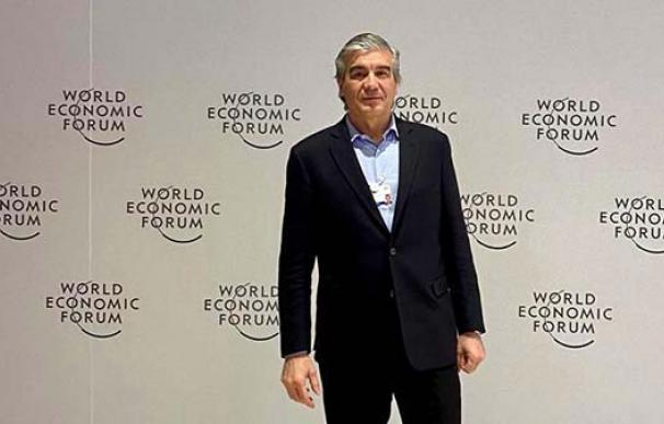 El presidente de Naturgy, Francisco Reynés, en el Foro Económico de Davos. /Europa Press