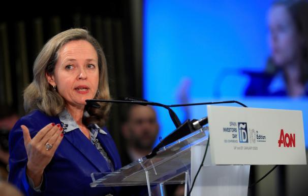 Nadia Calviño en Davos. / EFE