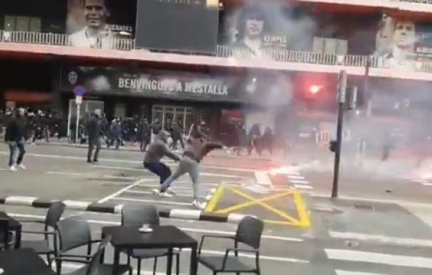 Altercados en Valencia-Barcelona