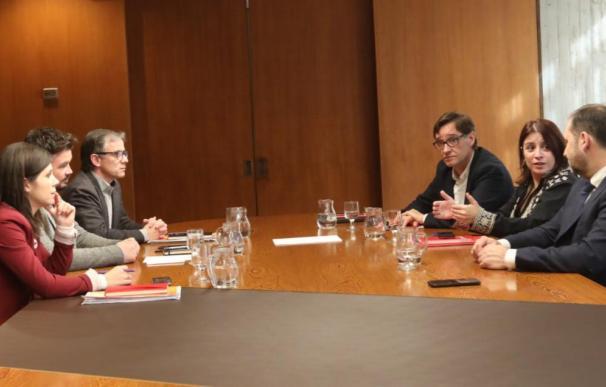 PSOE y ERC, reunidos en Barcelona