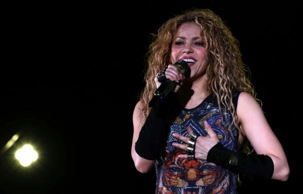 La cantante colombiana Shakira en el Cedars International Festival, el 13 de julio de 2018. EFE / EPA / NABIL MOUNZER