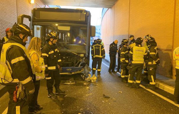 Fallece un motorista en el túnel de Pío XII de Madrid