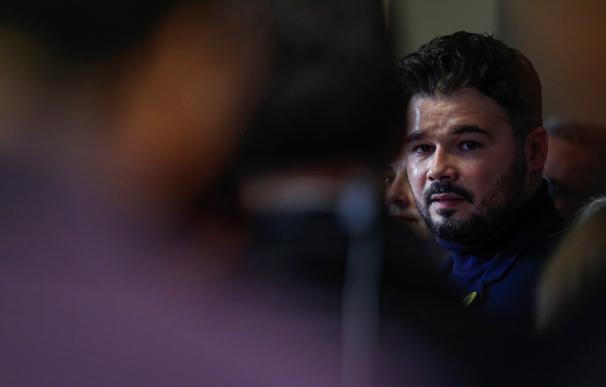 El portavoz de ERC, Gabriel Rufián. / EFE