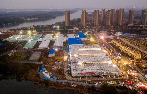 Vista aérea del hospital de Huoshenshan, construido tras la emergencia del coronavirus