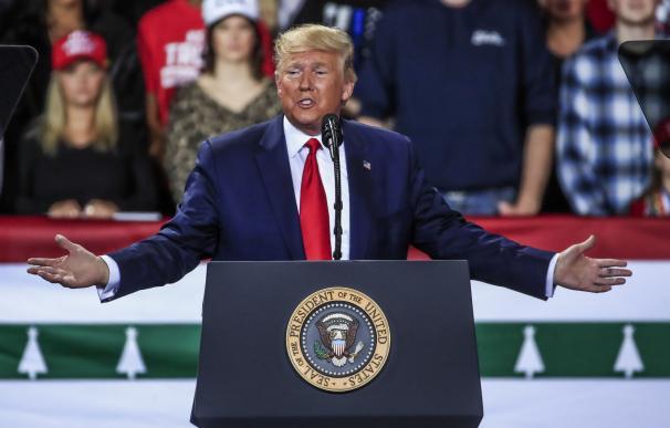 Donald Trump en su 'rally' de Navidad. / EFE