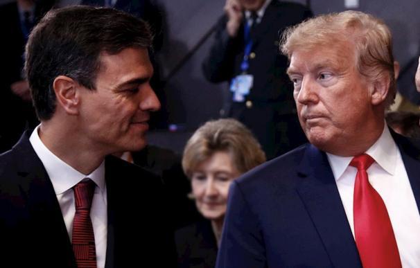 Pedro Sánchez ha esquivado la presencia de Donald Trump en Davos.