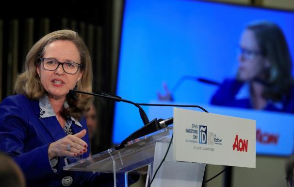Fotografía de Nadia Calviño, foro Bloomberg / EFE