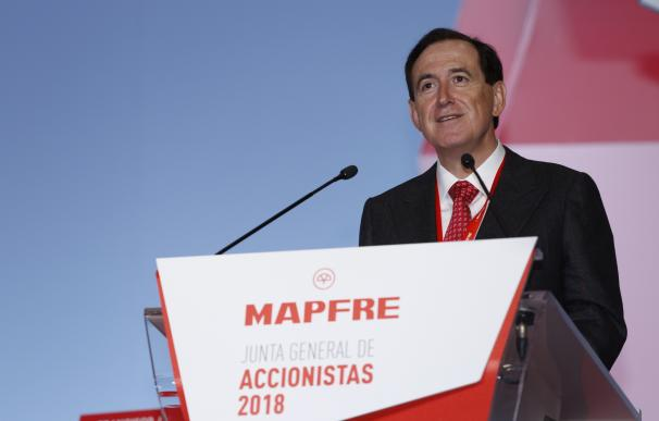 El presidente de Mapfre, Antonio Huertas, en junta de accionista.