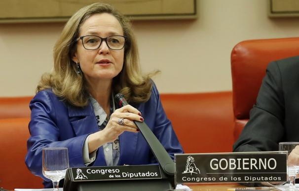 Calviño comparece en el Congreso. /EFE