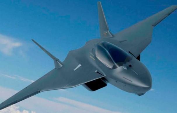 Una recreación del futuro avión de combate europeo. /FCAS