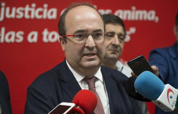 El primer secretario del PSC, Miquel Iceta, este sábado en Jaén