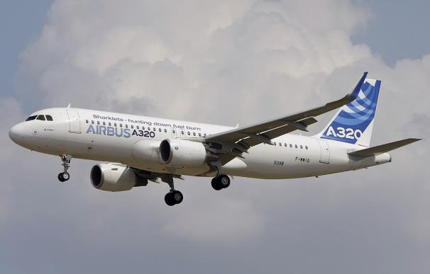 Fotografía de un Airbus A320.