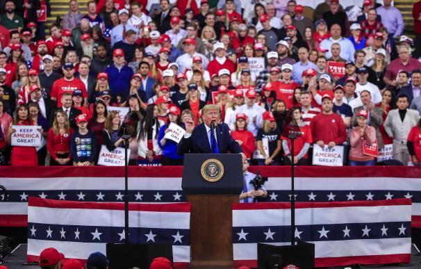 Donald Trump en el rally. / EFE