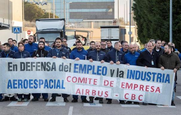 Concentración trabajadores Airbus