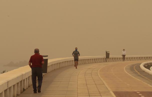 Varias personas pasean por la avenida marítima de Las Palmas de Gran Canaria