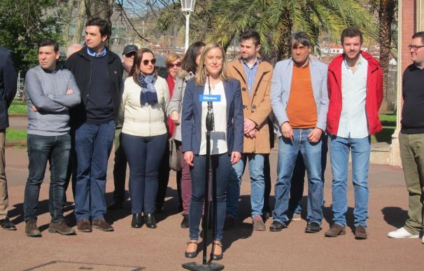 La secretaria general del PP vasco, Amaya Fernández, en un acto público