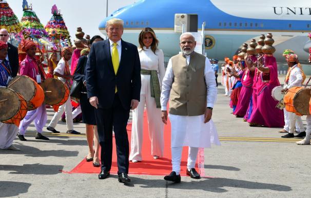 Donald Trump en India. / EFE