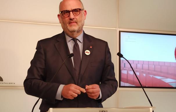 Eduard Pujol (JxCat) en rueda de prensa, en una foto de archivo.