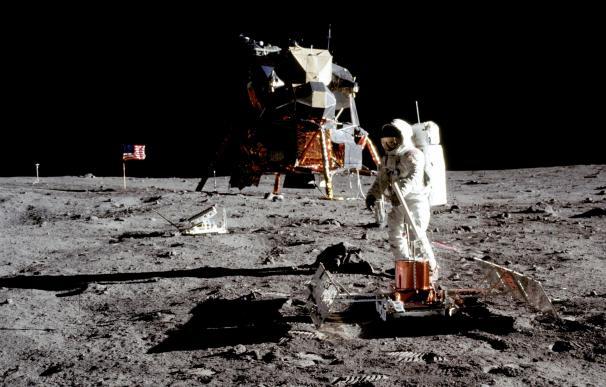Buzz Aldrin en la llegada a la Luna, en 1969
